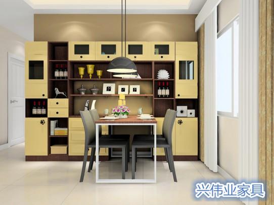 餐边柜设计得好不仅美化空间 还能增加收纳功能